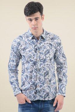 Pepe Jeans Stone Blue Regular Fit Printed Shirt