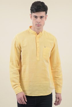 Pepe Jeans Yellow Band Collar Shirt