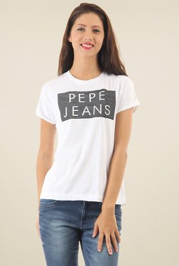 Pepe Jeans White Short Sleeves T-Shirt