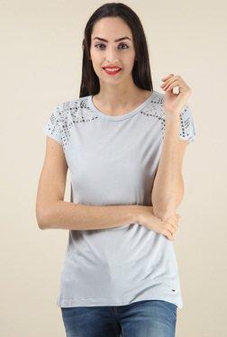 Pepe Jeans Light Grey Slim Fit Cotton T-Shirt