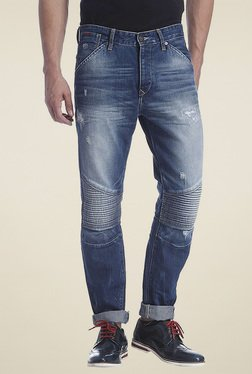 Jack & Jones Mid Blue Mid Rise Jeans