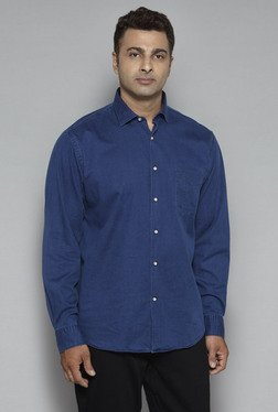 Oak & Keel By Westside Indigo Pure Cotton Regular Fit Shirt