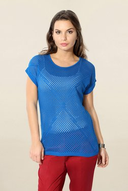 Solly By Allen Solly Blue Round Neck Top
