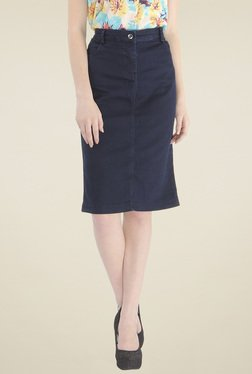 Pepe Jeans Blue Cotton Skirt