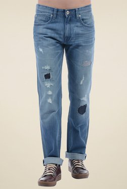 Pepe Jeans Light Blue Slim Fit Mid Rise Jeans