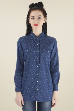 Pepe Jeans Blue Full Sleeves Slim Fit Shirt