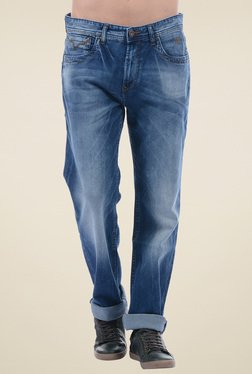 Pepe Jeans Mid Blue Regular Fit Mid Rise Jeans