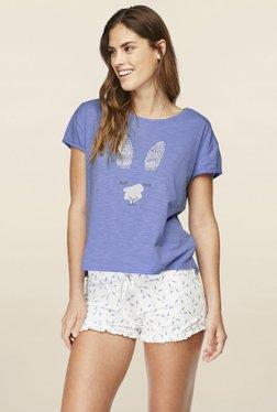 Hunkemoller Grapemist Printed Jersey Shorts