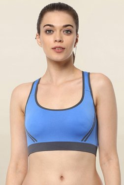 PrettySecrets Blue Non Wired Padded Sports Bra