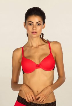 Candyskin Red Under Wired Padded Push Up Bra - Mp000000001559798
