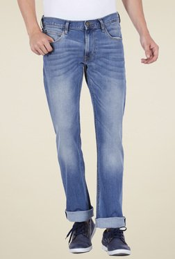 Lee Stone Blue Lightly Washed Slim Fit Jeans
