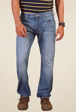 Lee Blue Slim Fit Low Rise Cotton Jeans