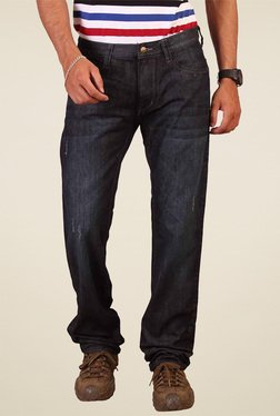Lee Navy Slim Fit Low Rise Cotton Jeans