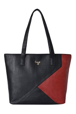 Baggit LXE3 Tempting E Croco Black & Maroon Shoulder Bag