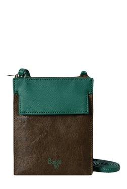 Baggit LMP Paradox Forestdew Brown & Green Sling Bag