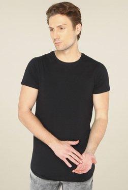 Jadeblue Black Round Neck Slim Fit T-Shirt