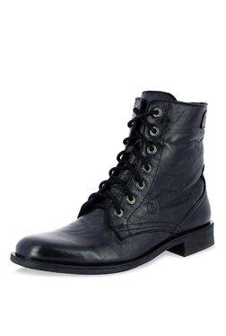 Alberto Torresi Barcus Black Derby Boots
