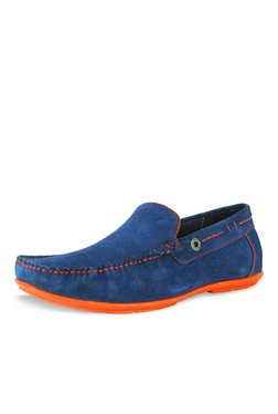 Alberto Torresi Pagolo Blue Loafers