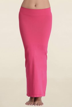 Clovia Pink Solid Saree Shapewear