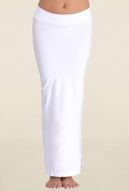 Clovia White Solid Saree Shapewear
