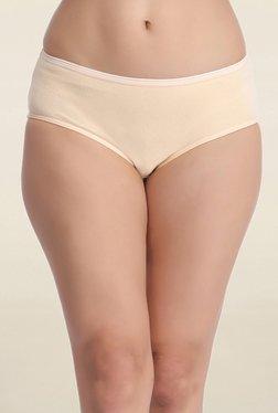 Clovia Beige Solid Mid Waist Hipster Panty