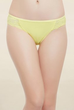 Clovia Yellow Lace Low Waist Bikini Panty