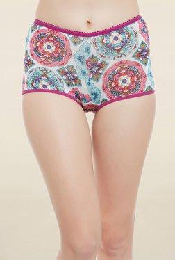 Clovia Multicolor Printed Mid Waist Boy Shorts