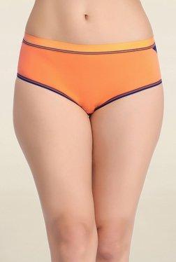 Clovia Orange Solid Mid Waist Hipster Panty