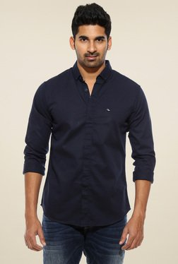 Spykar Navy Full Sleeves Shirt