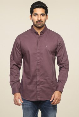 Spykar Wine Full Sleeves Shirt