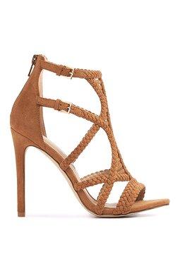 Aldo Sinfony Cognac Ankle Strap Stilettos