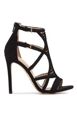Aldo Sinfony Black Ankle Strap Stilettos