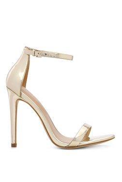 Aldo Polesia Golden Ankle Strap Stilettos