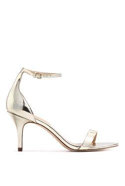 Aldo Zenavia Golden Ankle Strap Stilettos
