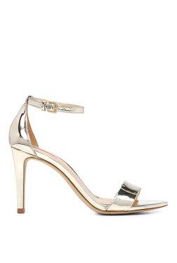 Aldo Cardross Golden Ankle Strap Stilettos