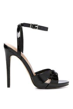 Aldo Celleno Black Ankle Strap Stilettos