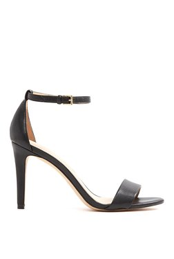 Aldo Camy Black Ankle Strap Stilettos