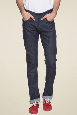 Spykar Blue Slim Fit Low Rise Jeans