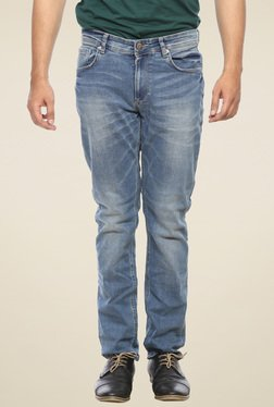 Spykar Light Blue Narrow Fit Low Rise Denim Jeans
