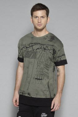 Nuon by Westside Olive Slim Fit T Shirt