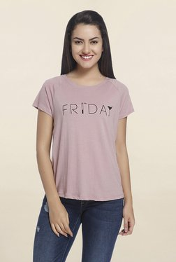 Only Purple Graphic Print T Shirt