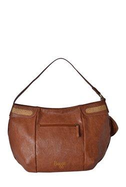 Baggit L Sangria Nikki Rust Solid Hobo Bag