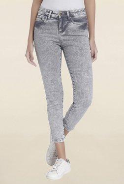 Vero Moda Grey Skinny Fit Acid Wash Jeans