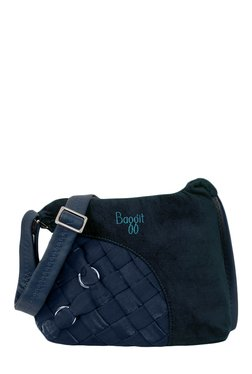 Baggit Sheila Tower Navy Interlaced Sling Bag