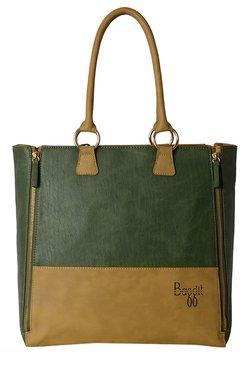 Baggit L Abcd Wan Mehendi Green Color Block Shoulder Bag