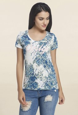 Only White Floral Print T Shirt - Mp000000001582271
