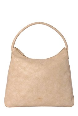 Baggit Hailey Power Peach Solid Hobo Bag