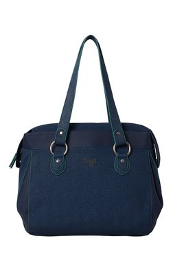 Baggit Cache Dotty Blue Solid Shoulder Bag