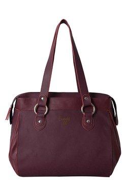 Baggit Cache Andrew Wine Solid Shoulder Bag