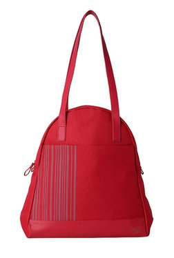 Baggit Aimee Sasha Red Striped Nylon Shoulder Bag